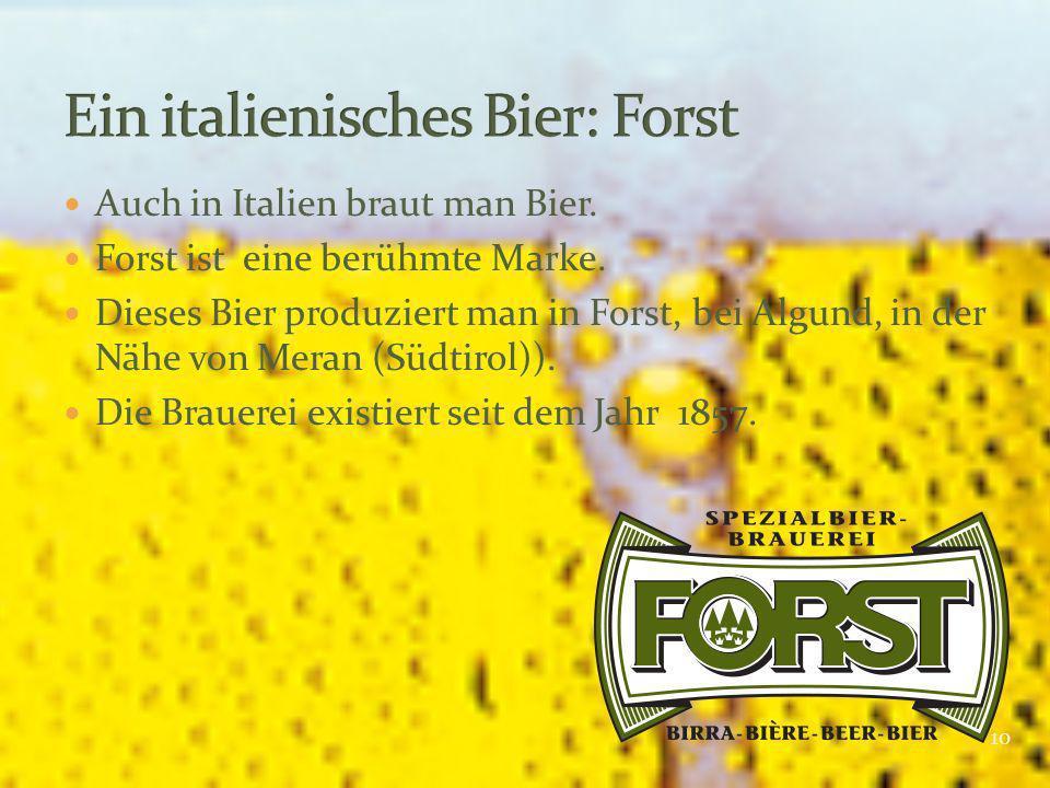 Ein italienisches Bier: Forst