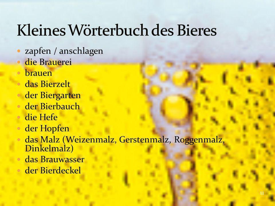 Kleines Wörterbuch des Bieres
