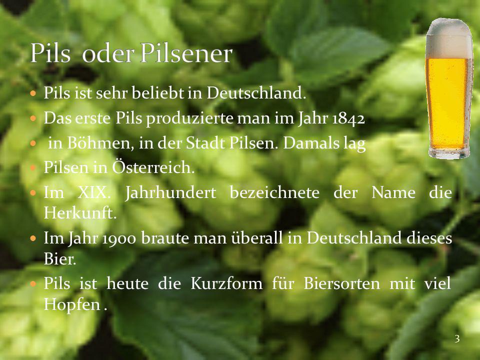 Pils oder Pilsener Pils ist sehr beliebt in Deutschland.