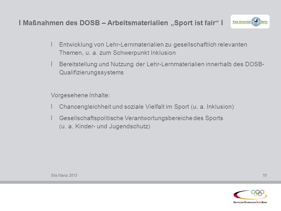 "l Maßnahmen des DOSB – Arbeitsmaterialien ""Sport ist fair l"