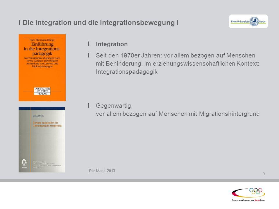 I Die Integration und die Integrationsbewegung I