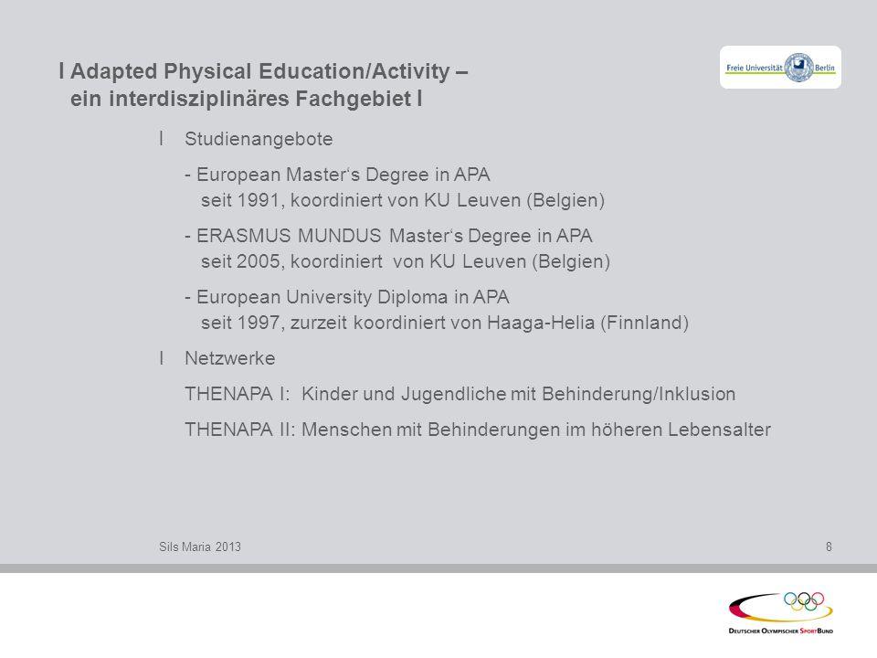 I Adapted Physical Education/Activity – ein interdisziplinäres Fachgebiet I