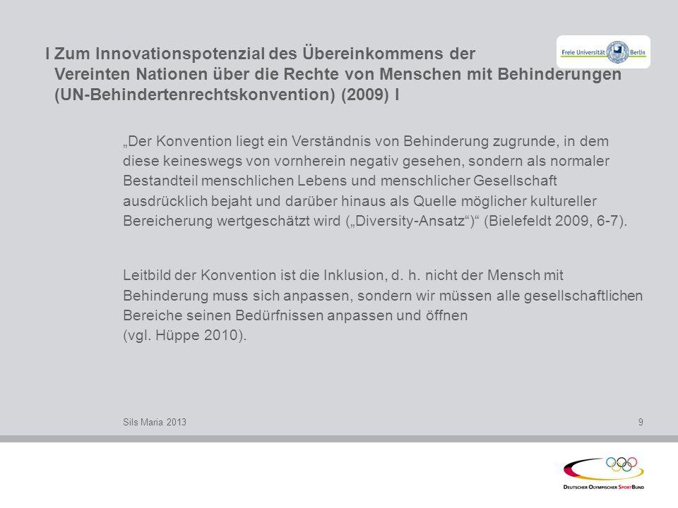 I Zum Innovationspotenzial des Übereinkommens der Vereinten Nationen über die Rechte von Menschen mit Behinderungen (UN-Behindertenrechtskonvention) (2009) l