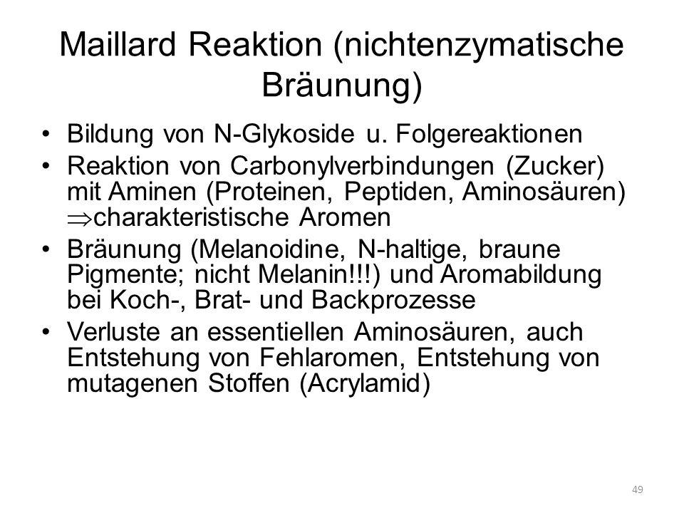 Maillard Reaktion (nichtenzymatische Bräunung)