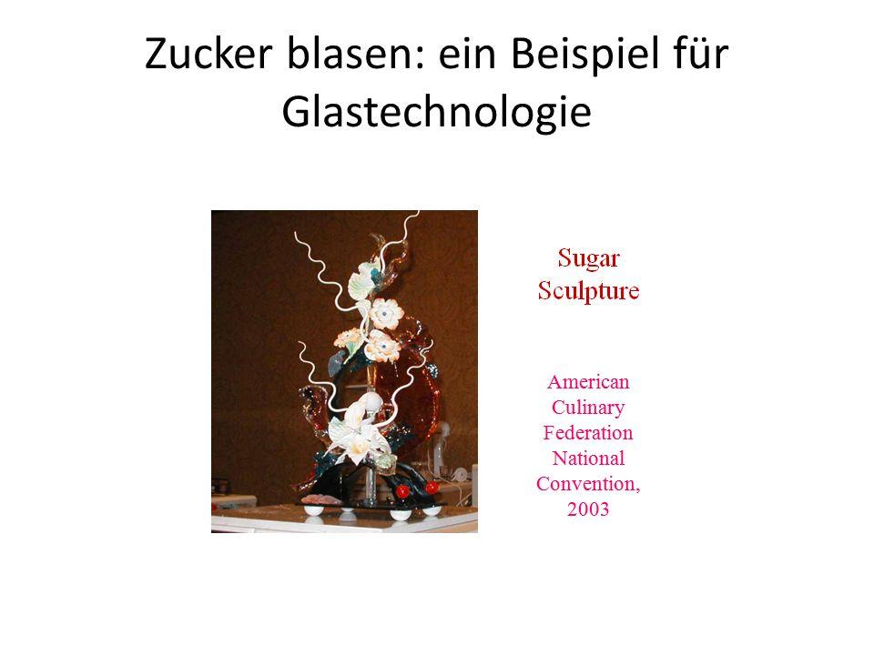 Zucker blasen: ein Beispiel für Glastechnologie