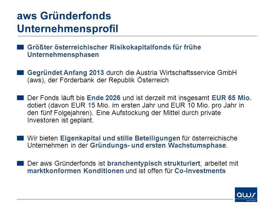 aws Gründerfonds Unternehmensprofil