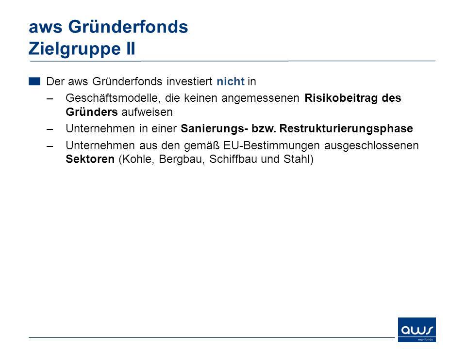 aws Gründerfonds Zielgruppe II