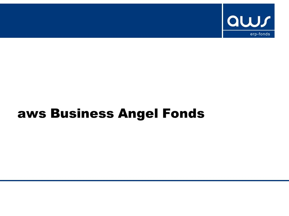 aws Business Angel Fonds
