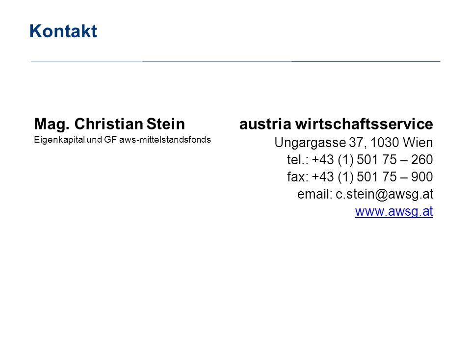 Kontakt Mag. Christian Stein austria wirtschaftsservice