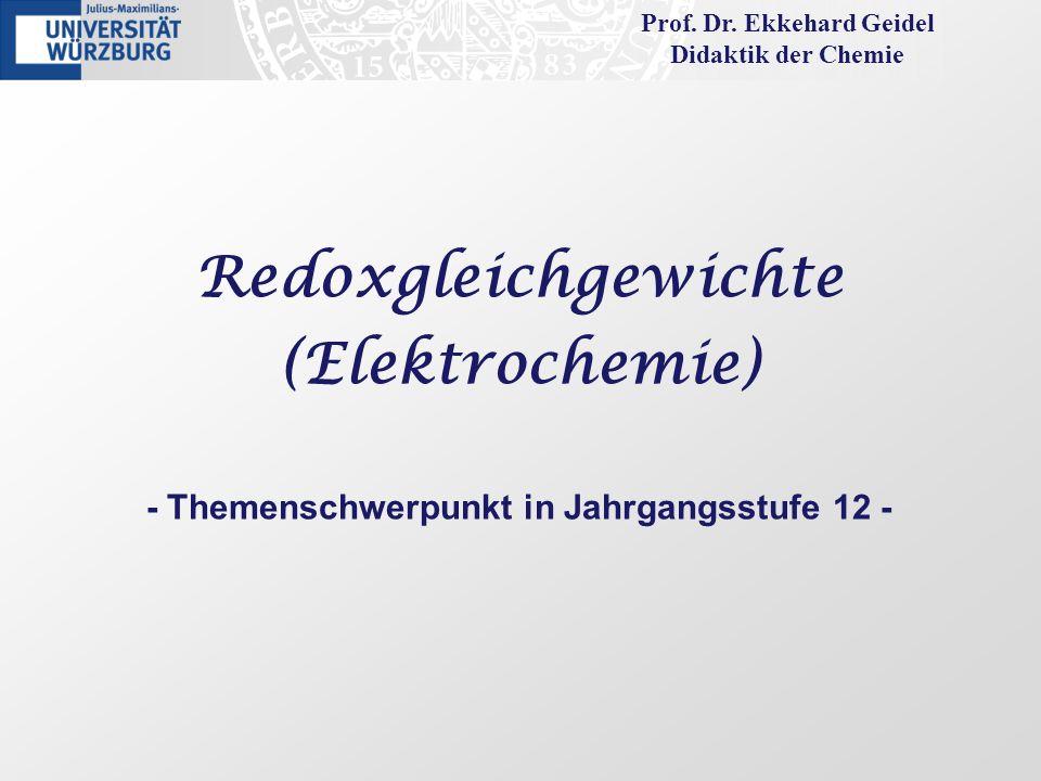 Prof. Dr. Ekkehard Geidel - Themenschwerpunkt in Jahrgangsstufe 12 -