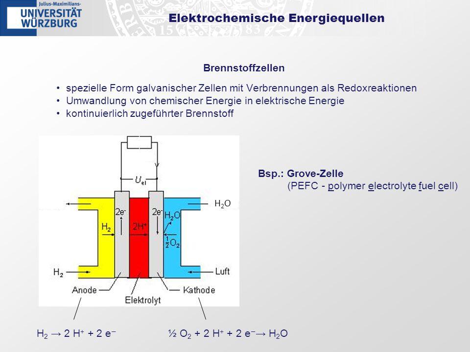 Elektrochemische Energiequellen