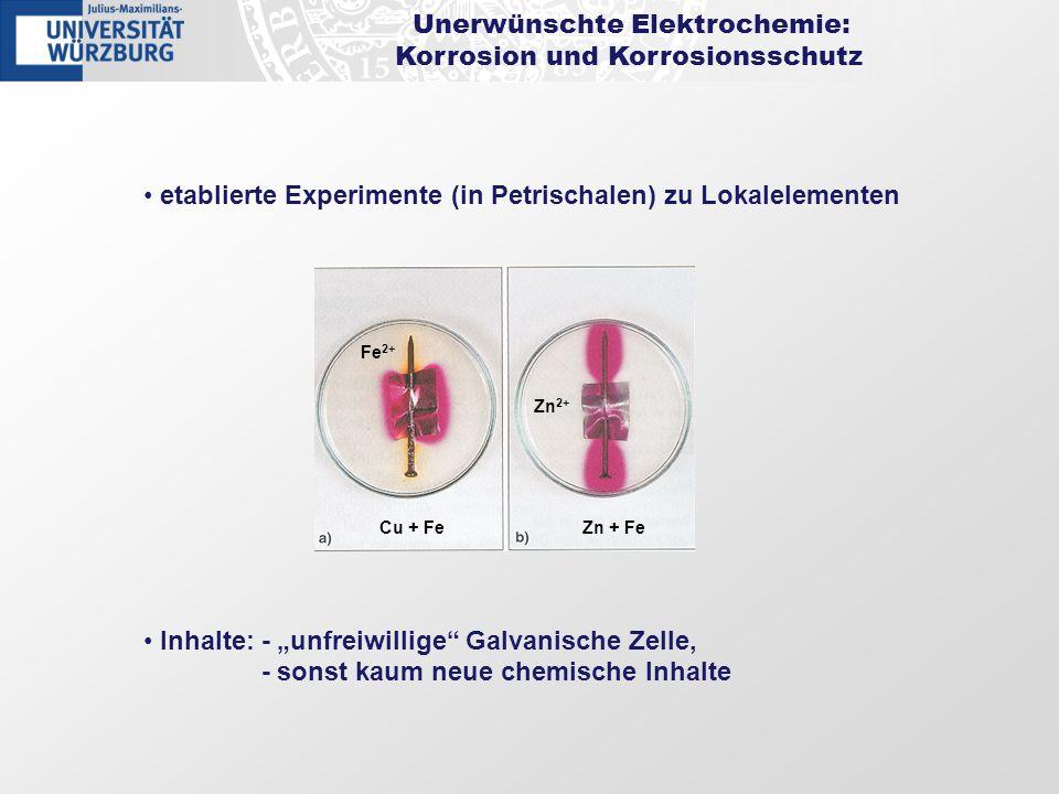 Unerwünschte Elektrochemie: Korrosion und Korrosionsschutz