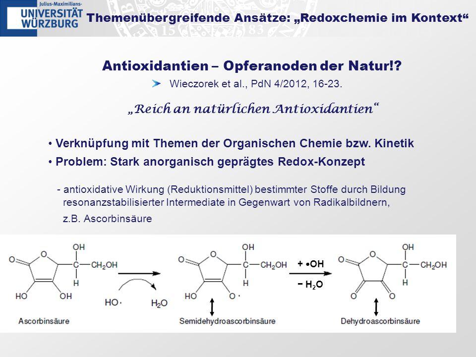 Antioxidantien – Opferanoden der Natur!