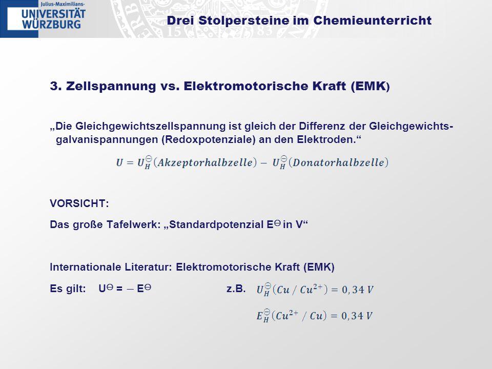 Drei Stolpersteine im Chemieunterricht
