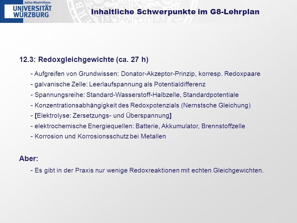 Inhaltliche Schwerpunkte im G8-Lehrplan