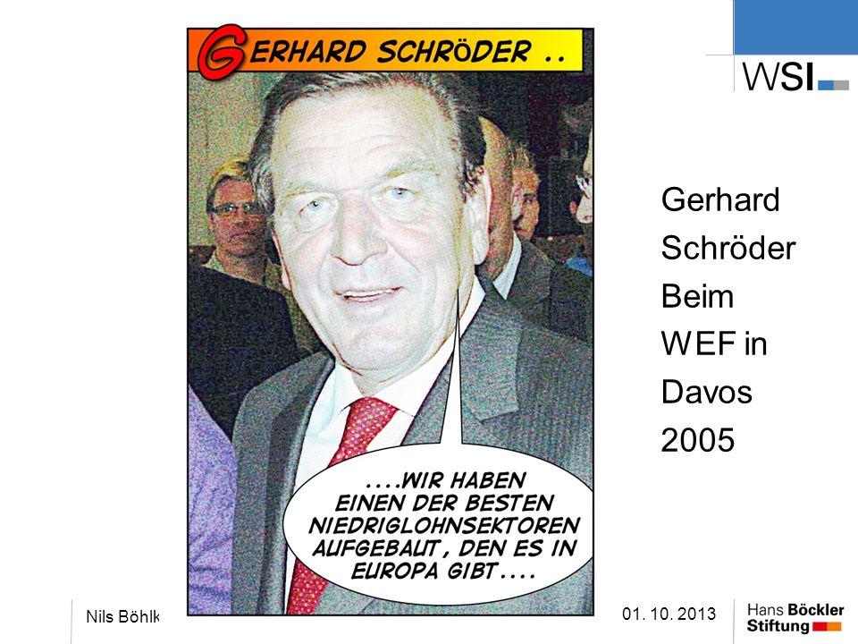 Gerhard Schröder Beim WEF in Davos 2005