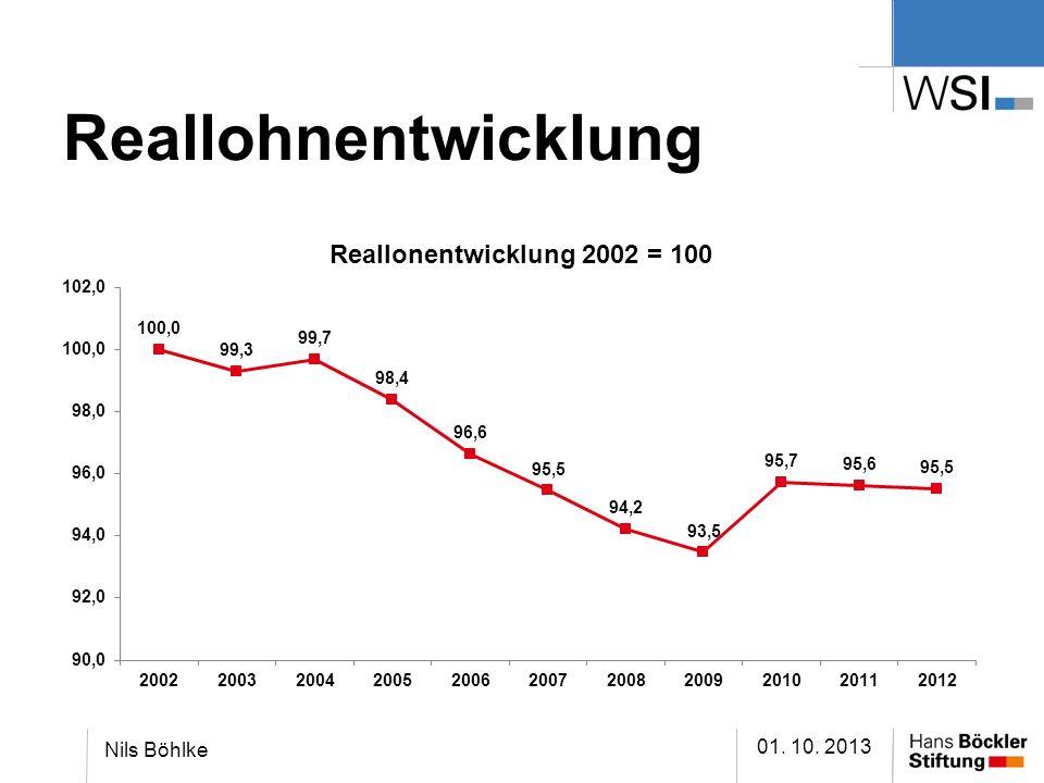 Reallohnentwicklung Nils Böhlke 01. 10. 2013
