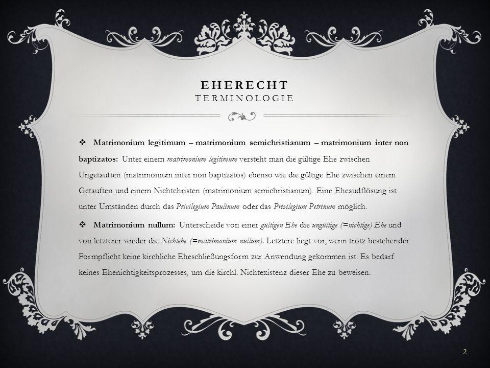 EHERECHT Terminologie