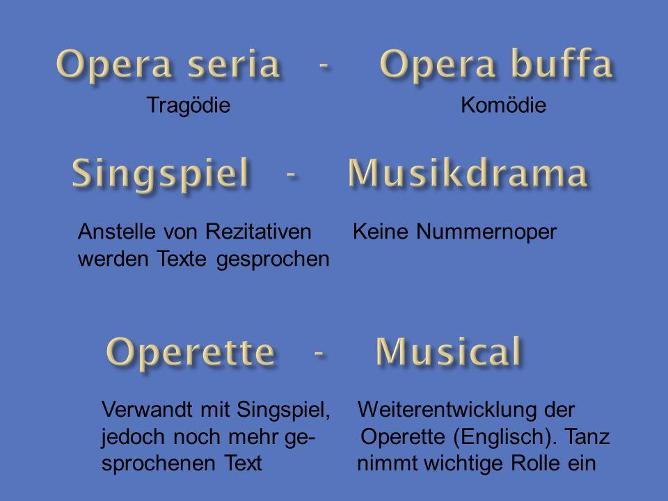 Opera seria - Opera buffa