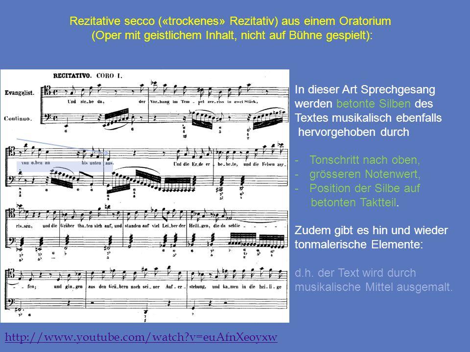 Rezitative secco («trockenes» Rezitativ) aus einem Oratorium