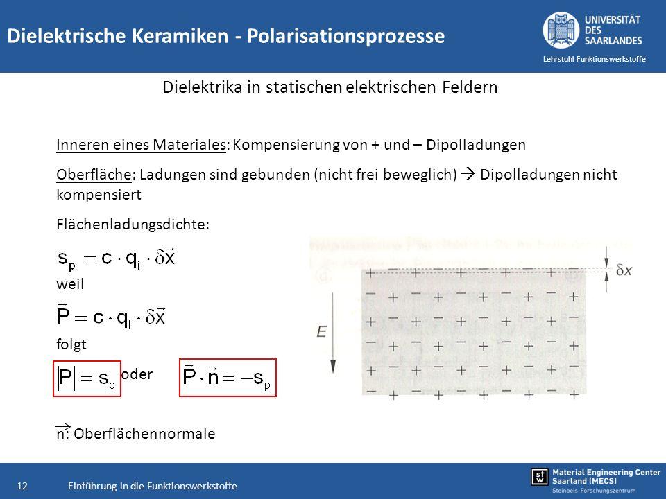 Dielektrika in statischen elektrischen Feldern