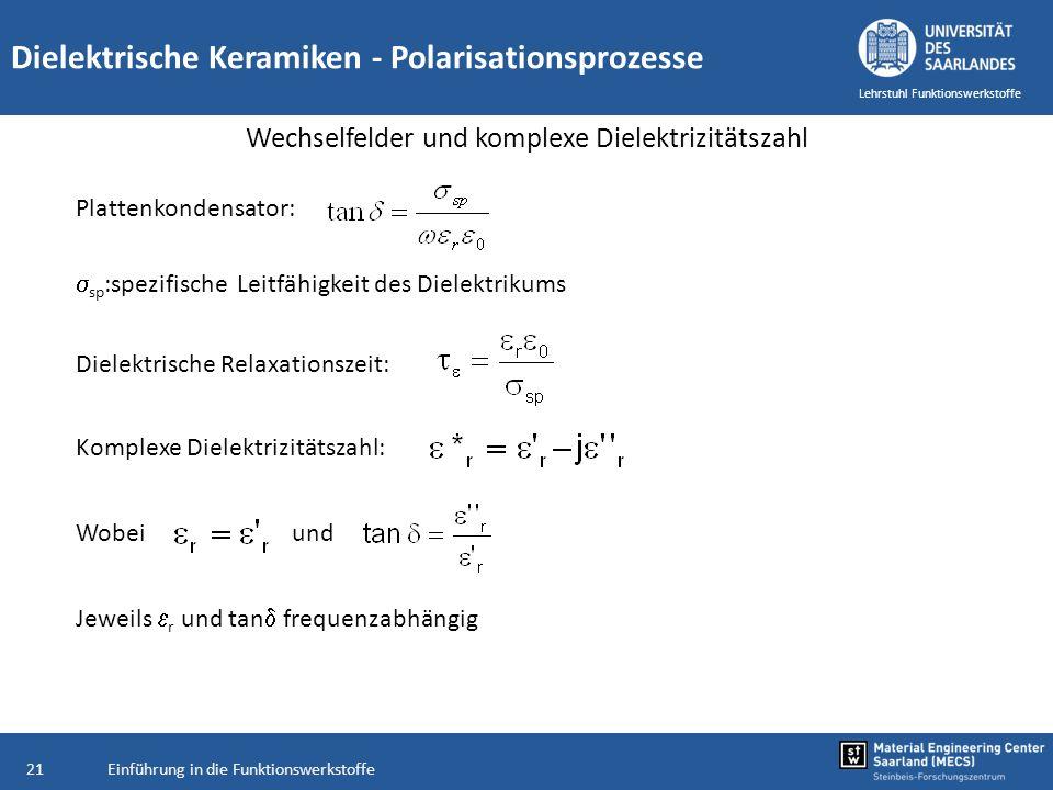 Wechselfelder und komplexe Dielektrizitätszahl