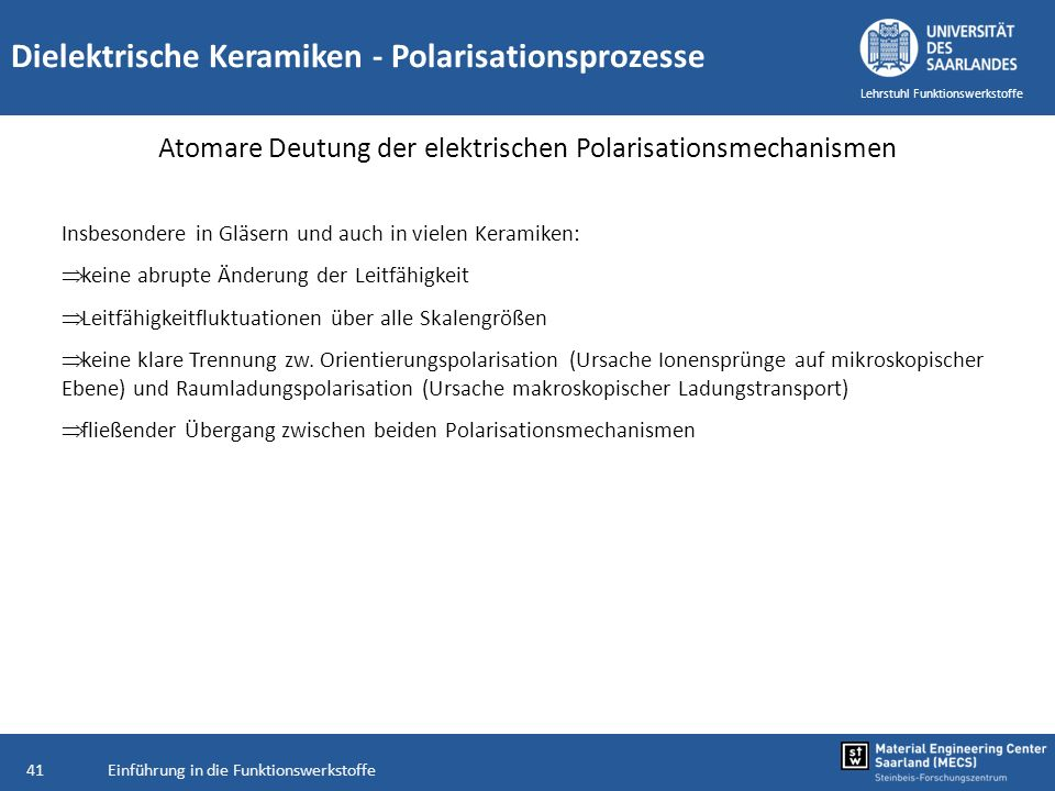 Atomare Deutung der elektrischen Polarisationsmechanismen