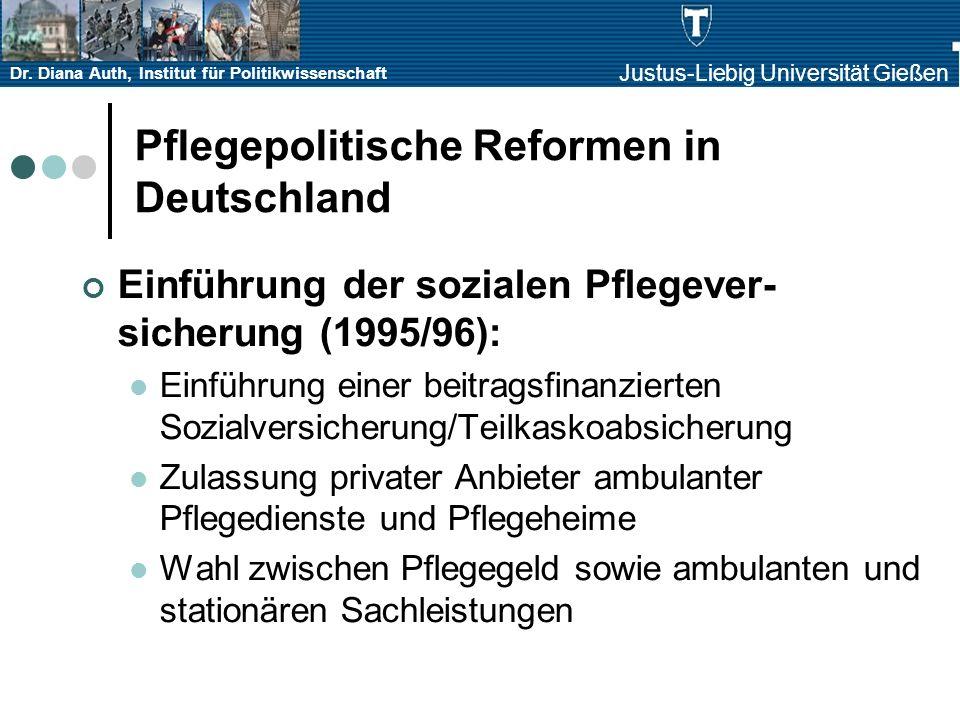 Pflegepolitische Reformen in Deutschland