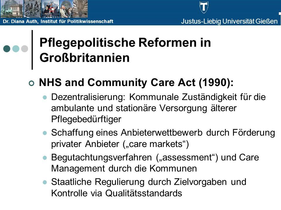 Pflegepolitische Reformen in Großbritannien