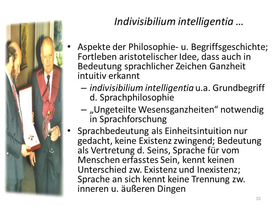 Indivisibilium intelligentia …