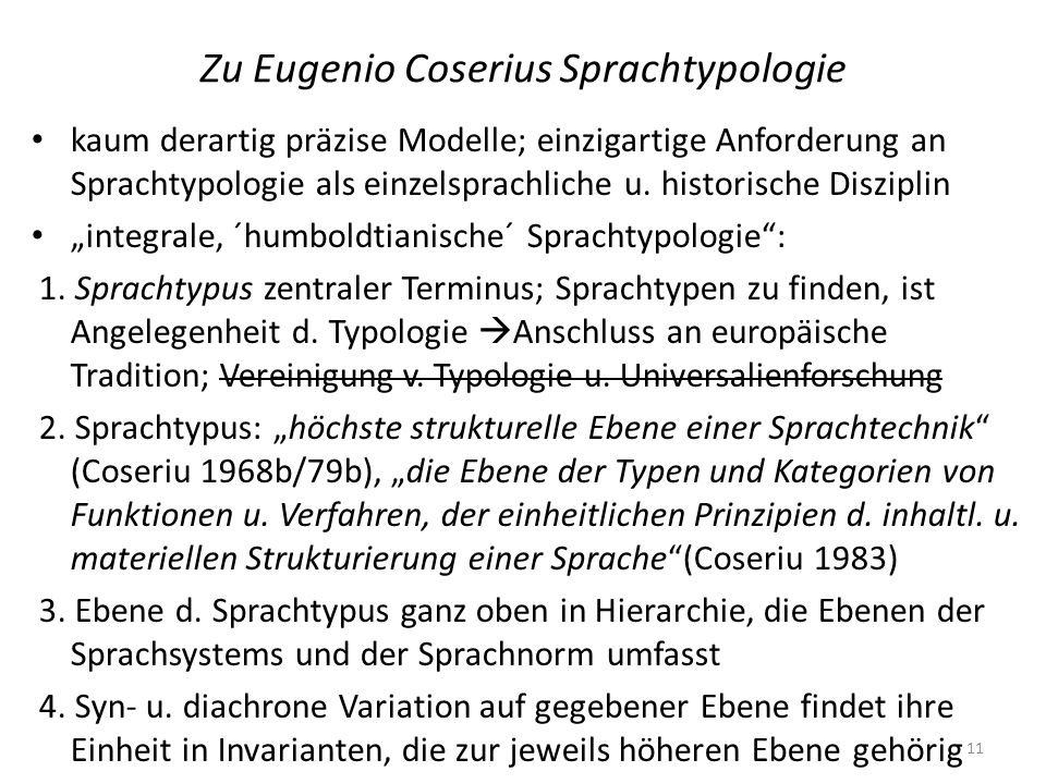 Zu Eugenio Coserius Sprachtypologie