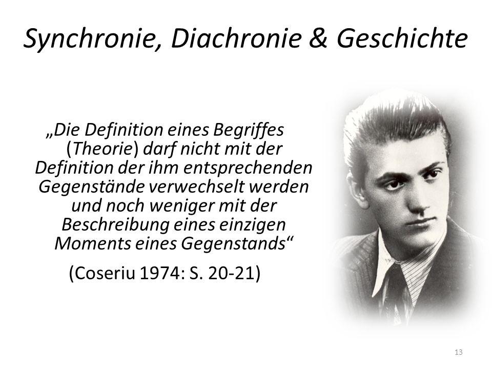 Synchronie, Diachronie & Geschichte