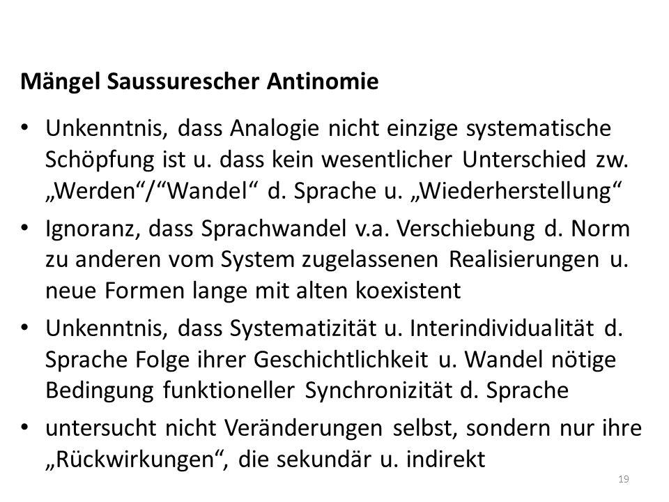 Mängel Saussurescher Antinomie
