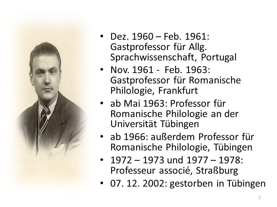 Dez. 1960 – Feb. 1961: Gastprofessor für Allg