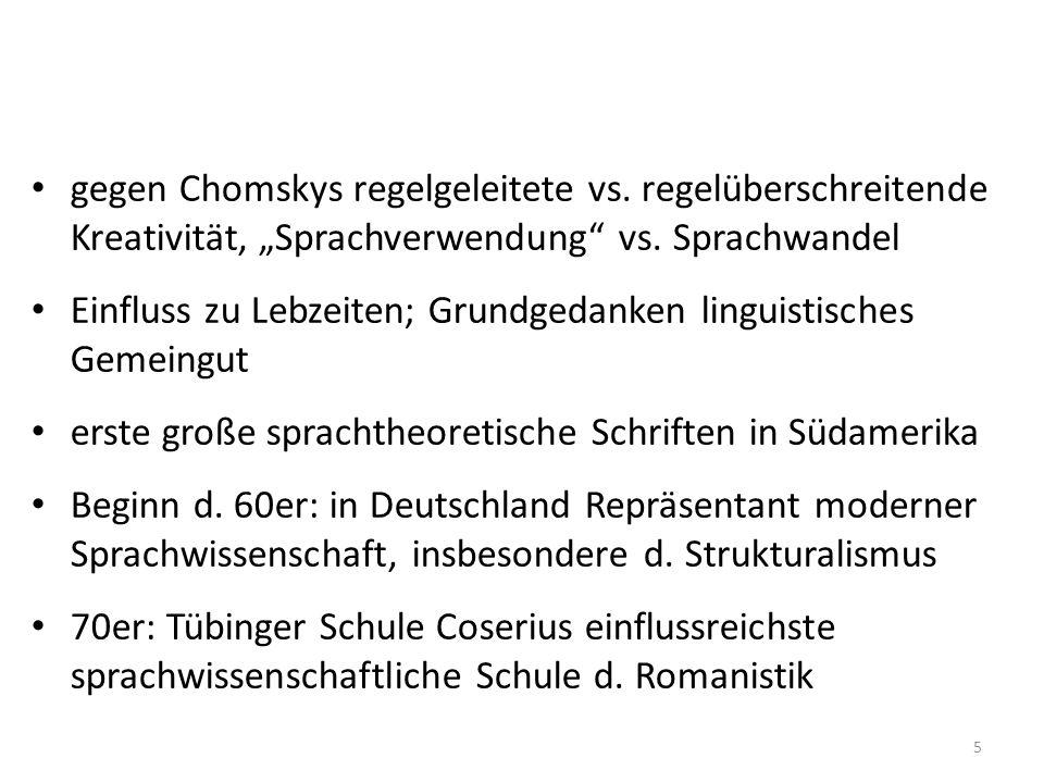gegen Chomskys regelgeleitete vs