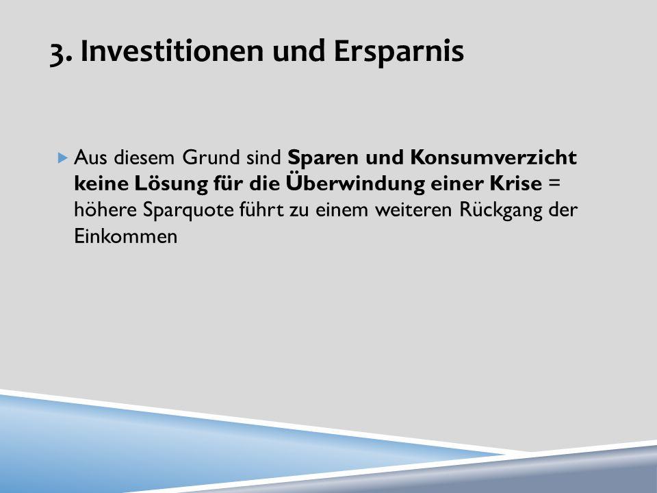 3. Investitionen und Ersparnis