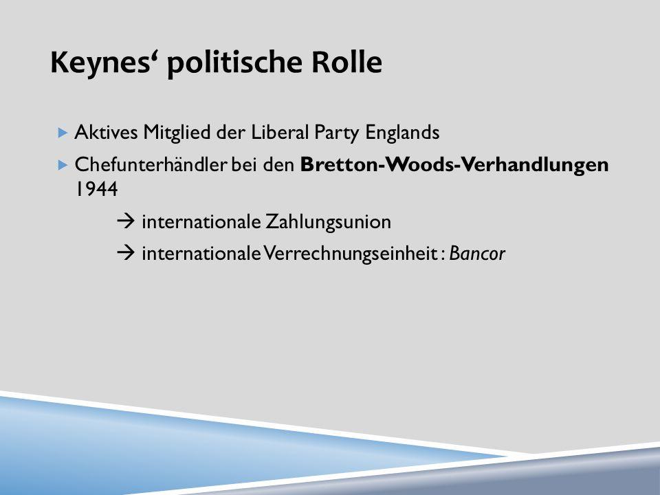 Keynes' politische Rolle