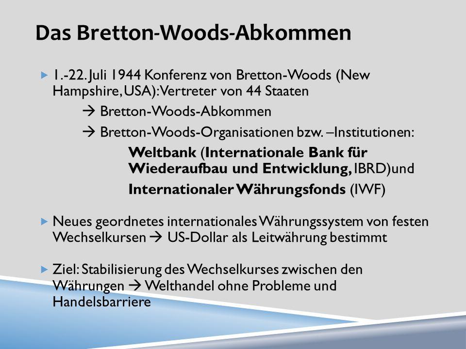 Das Bretton-Woods-Abkommen