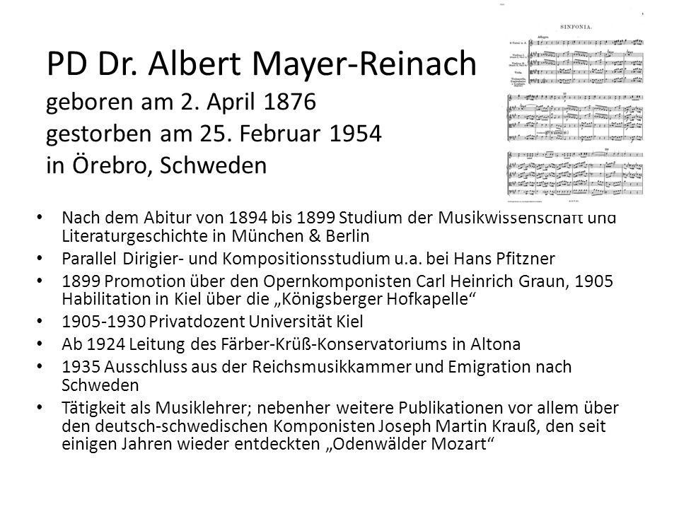 PD Dr. Albert Mayer-Reinach geboren am 2. April 1876 gestorben am 25