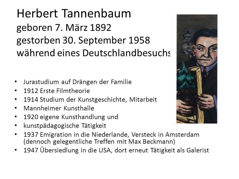 Herbert Tannenbaum geboren 7. März 1892 gestorben 30