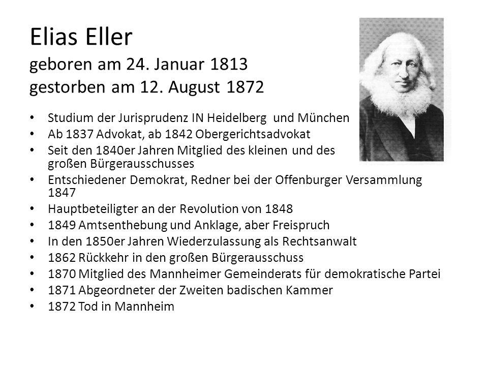 Elias Eller geboren am 24. Januar 1813 gestorben am 12. August 1872