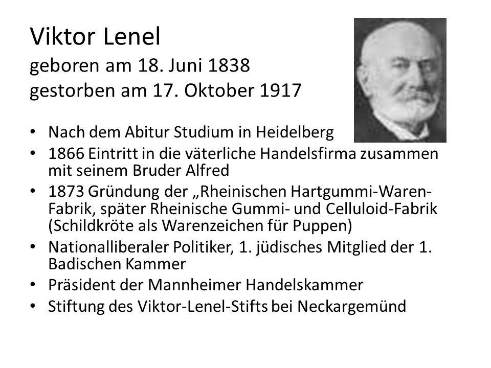 Viktor Lenel geboren am 18. Juni 1838 gestorben am 17. Oktober 1917