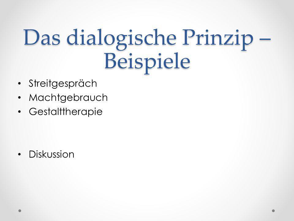 Das dialogische Prinzip – Beispiele