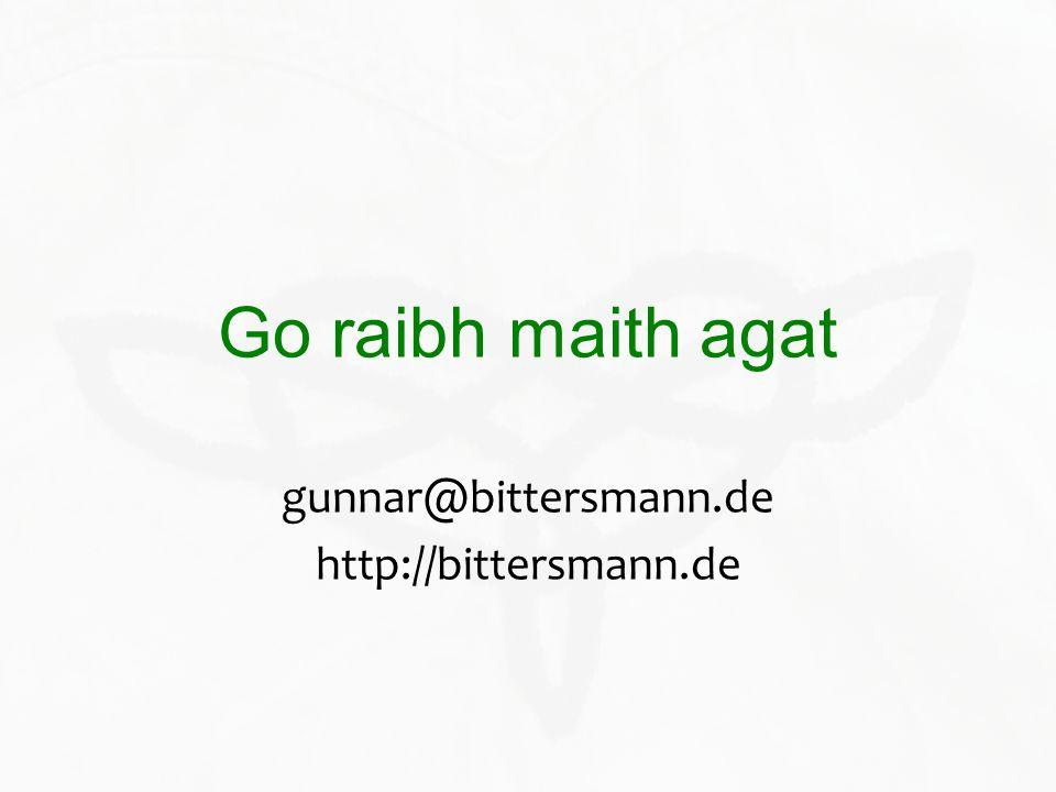 gunnar@bittersmann.de http://bittersmann.de
