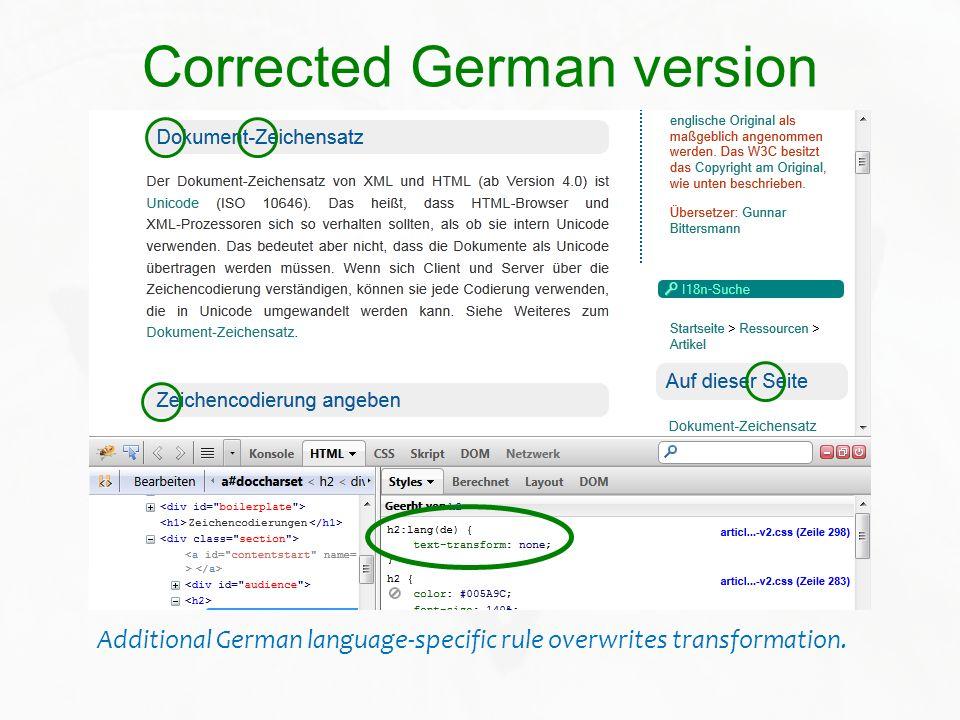 Corrected German version