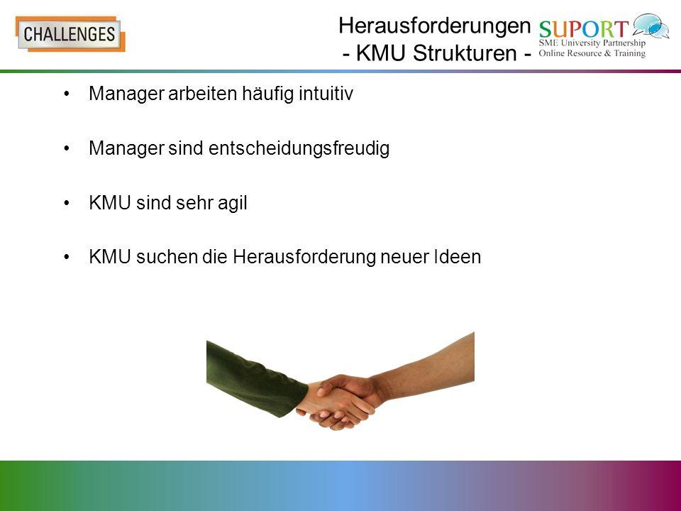 Herausforderungen - KMU Strukturen -