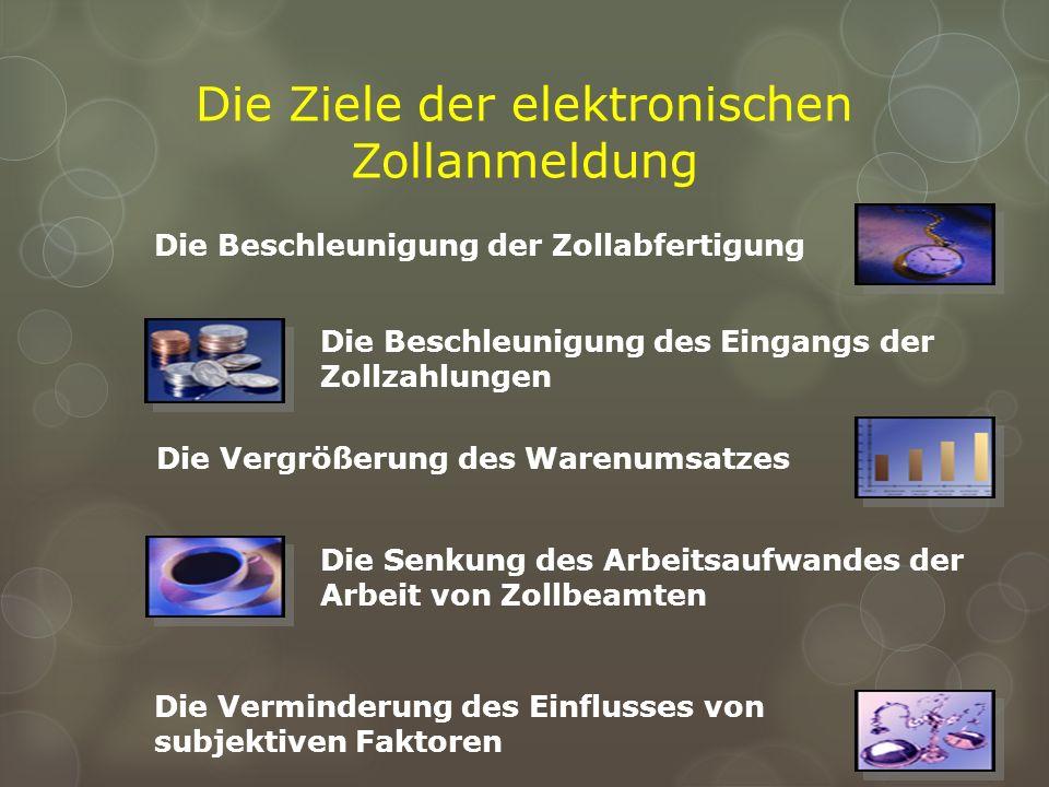 Die Ziele der elektronischen Zollanmeldung