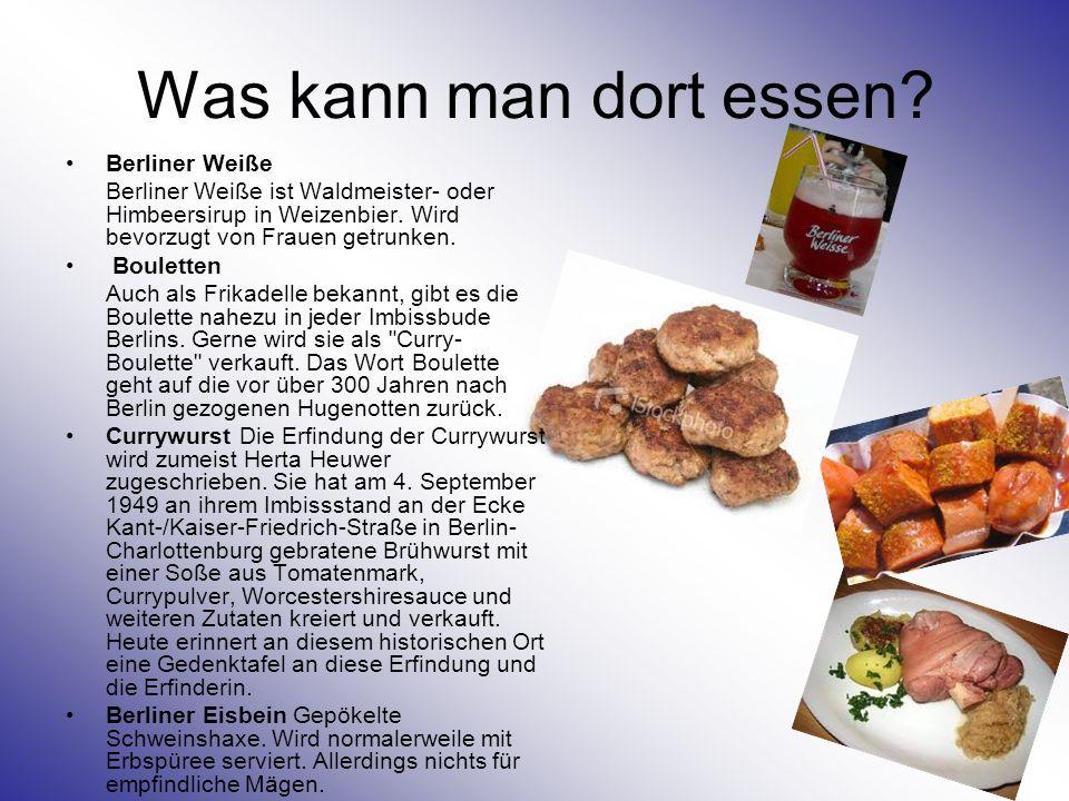 Was kann man dort essen Berliner Weiße