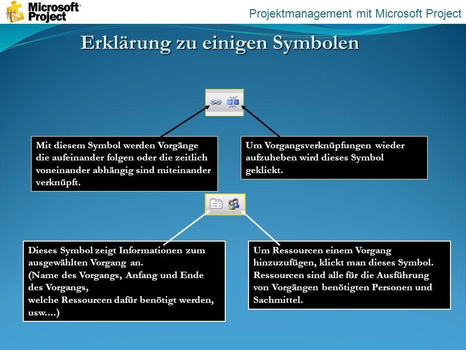 Erklärung zu einigen Symbolen
