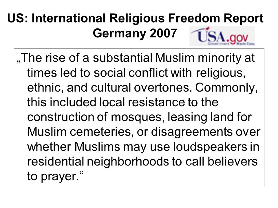 US: International Religious Freedom Report Germany 2007